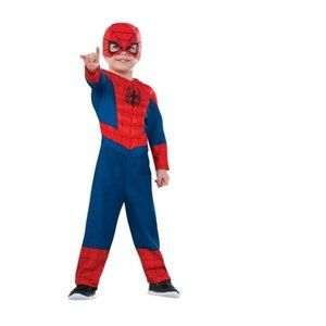 Toddler Boys Spiderman Muscle Costume-2/4